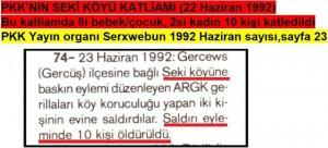 PKK'nın Seki Köyü baskını