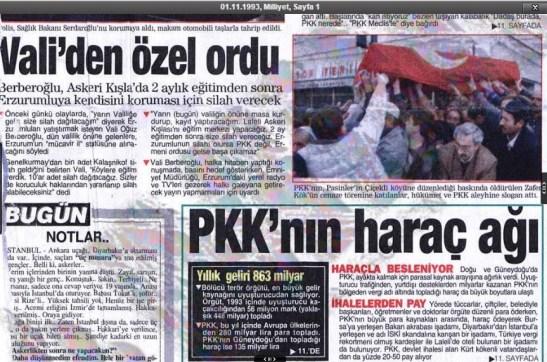 pkk'nın 1993 senesindeki katliamları