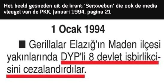 8 Ambtenaren Vermoord pkk