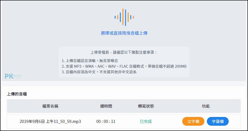 錄音檔直接轉成文字的App-自動辨識語音的內容轉文字!手機,電腦版都有(Android,iOS,Web) | 痞凱踏踏 | PKstep