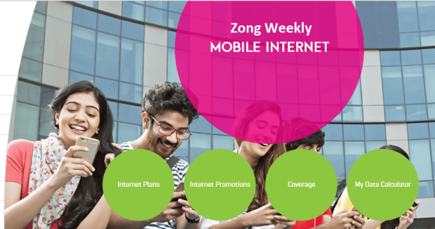 Zong weekly internet package