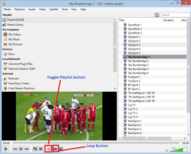 play iptv on VLC 3
