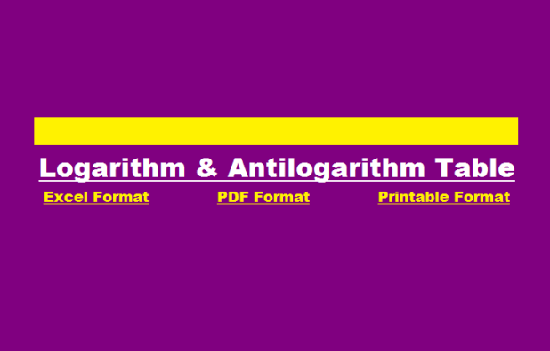 Common Logarithm Antilogarithm Table With Mean Difference