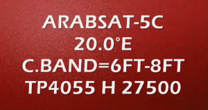 Arabsat-5C Strong TP with Dish Size