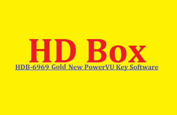HD Box HDB-6969 Gold Receiver New Software