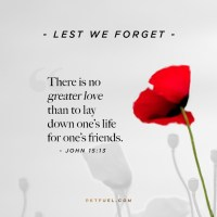 Anzac Day - No Greater Love