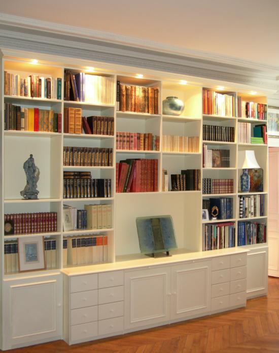 bibliotheque blanche mi style bibliotheque de