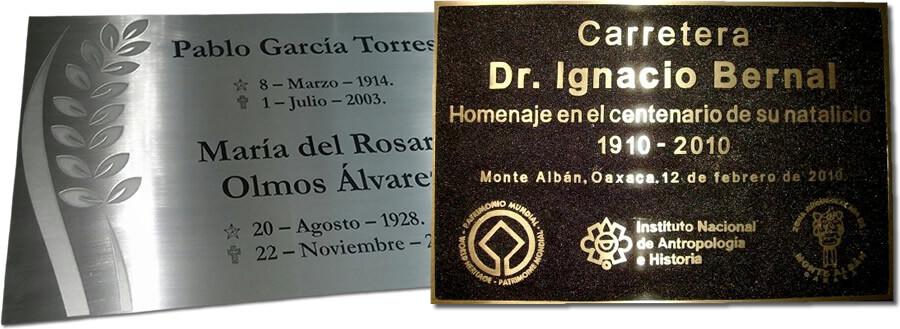 placas conmemorativas urgentes