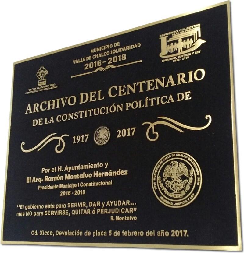 placa de bronce, placa fundida al alto relieve