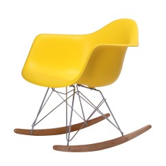 Yellow Rocking Chair Big And Tall Outdoor Chairs Replica Eames Rar