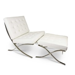 Barcelona Chair Leather Wwe Tables And Chairs Replica Lounge With Ottoman