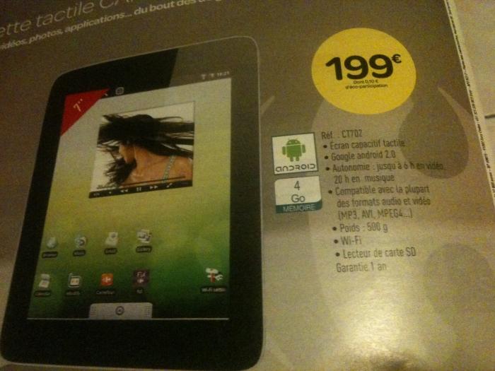 Une tablette à 199€ chez Carrefour