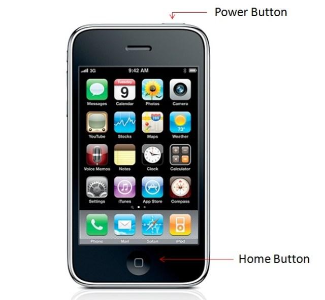Capture d'écran Iphone
