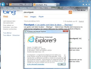Internet Explorer 9 RC Apercu