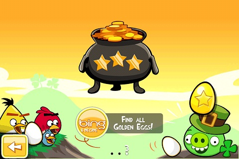 Angry Birds Seasons St Patrick Golden Egg 2