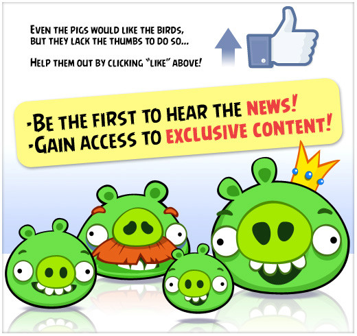 Angry Birds arrive aussi sur Facebook