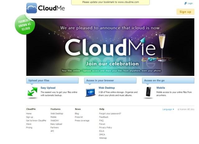 iCloud devient CloudMe