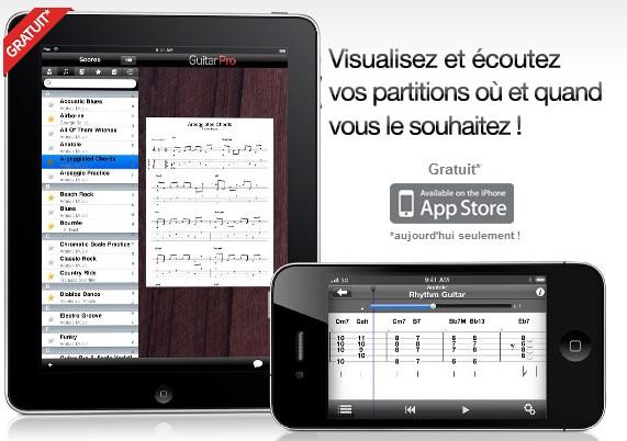 L'application Guitar Pro est gratuite sur iOS aujourd'hui (Iphone / Ipad)