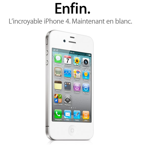 L'iPhone 4 blanc n'est plus un mythe !