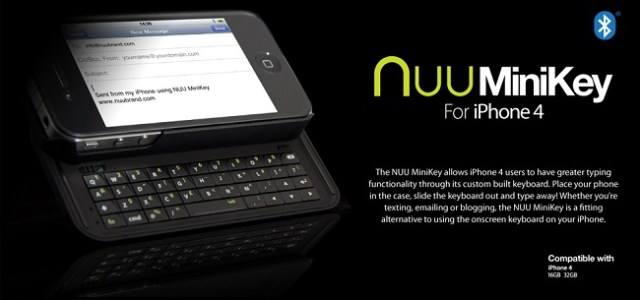 Le NUU MiniKey un vrai clavier pour votre iPhone