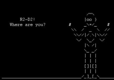 Star Wars version ASCII