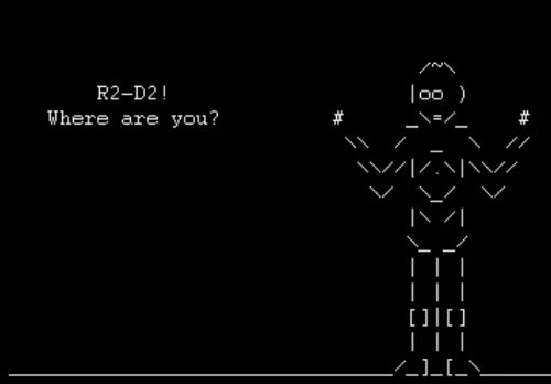 Un remake de Star Wars en ASCII