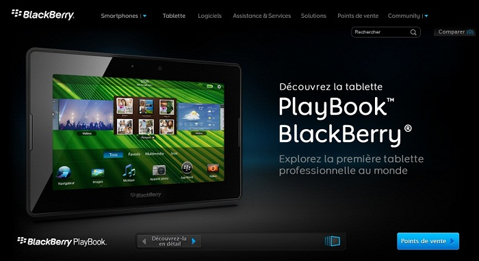 La Blackberry Playbook is out !