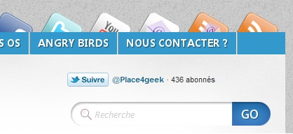 Bouton Twitter Place4geek