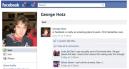 Le statut de GeoHot indiquant qu'il travail chez Facebook