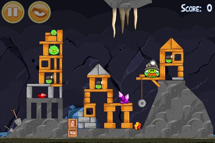 Une nouvelle mise à jour pour Angry Birds : Mine And Dine