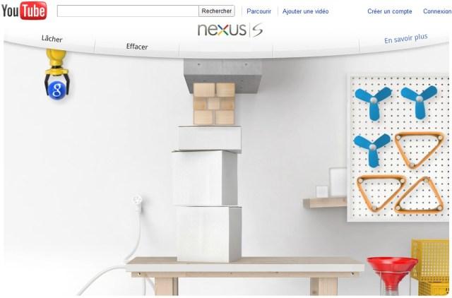 Google crée un jeu sympas pour promouvoir son Nexus S