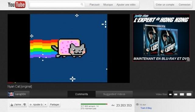 Youtube fait peau neuve avec Cosmic Panda : Nyan Cat