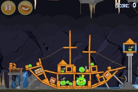 Angry Birds, mise à jour des niveaux Mine and Dine