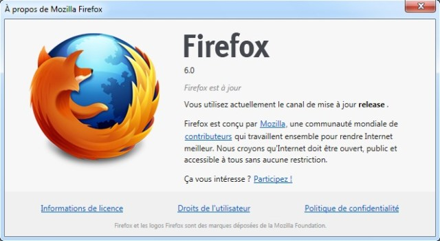 Firefox 6 est disponible en version finale !