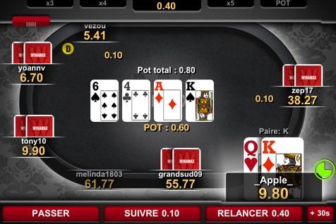 Jouer au poker avec de l'argent réel sur iPhone avec l'application Winamax