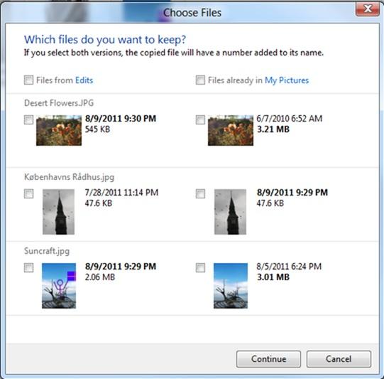 Windows 8 : Gestion des conflits