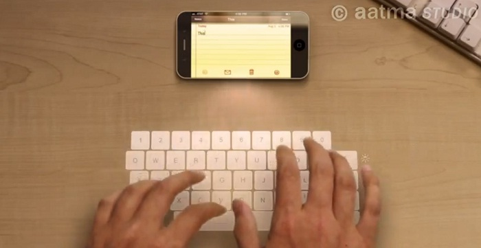 iPhone 5 clavier pico-projecteur