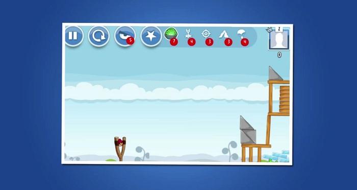 Des power-ups sur la version Facebook d'Angry Birds