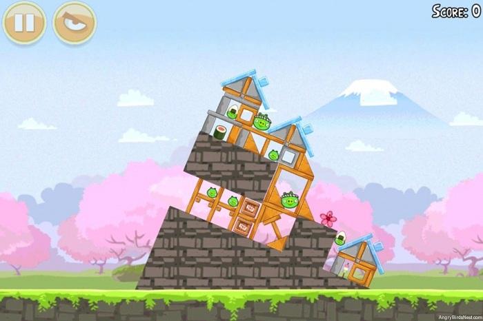 Angry Birds Seasons Cherry Blossom est disponible