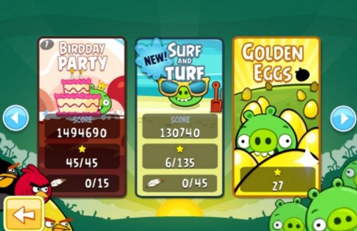 Une mise à jour pour Angry Birds et RIO en attendant Space