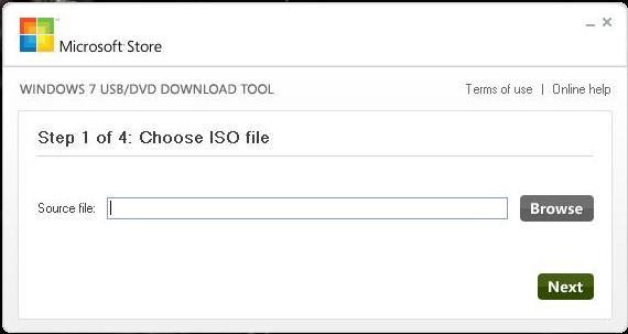 Windows 7 USB/DVD Tool