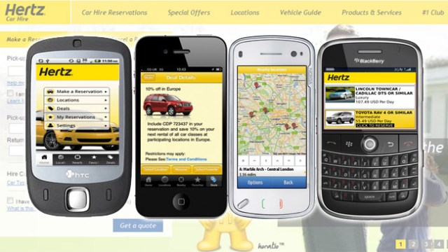 La nouvelle application Hertz