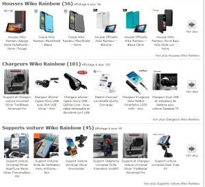 Les housses officielles Wiko Rainbow sont disponibles chez Mobilefun