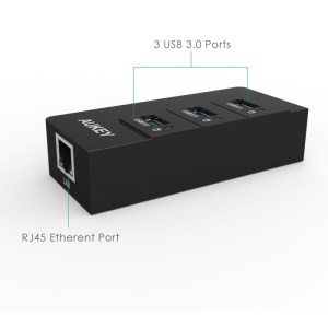 Test du HUB USB 3 avec 3 ports USB et 1 port Ethernet d'Aukey