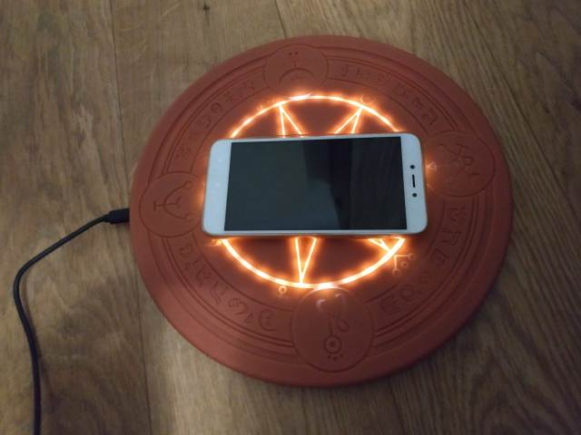 Test du chargeur cercle magique à induction