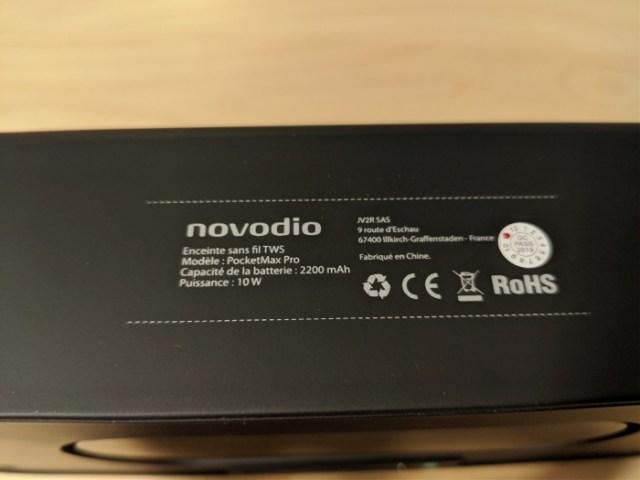 Test de l'enceinte Bluetooth Novodio PocketMax Pro