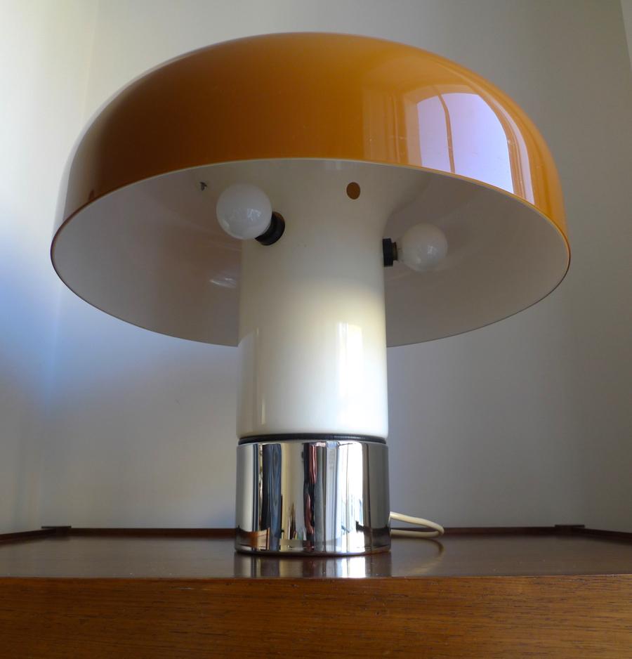 Harvey Guzzini Brumbury Lamp By Luigi Massoni 1969