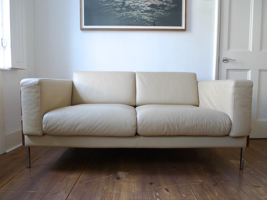 Stupendous Habitat Days Forum 2 Seater Leather Sofa By Robin Day Ibusinesslaw Wood Chair Design Ideas Ibusinesslaworg