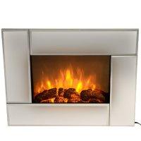 "HomCom 26"" Indoor Electric Mounted Fireplace Heater ..."