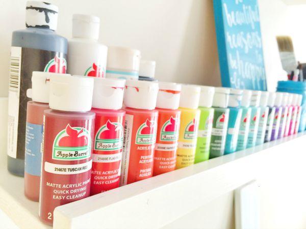 Beautifully Organized Craft Paints